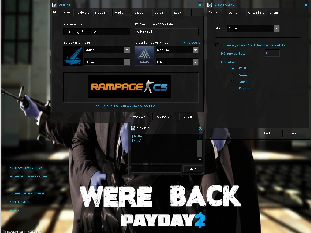 Скин BackGround PayDay 2 And Sound Media