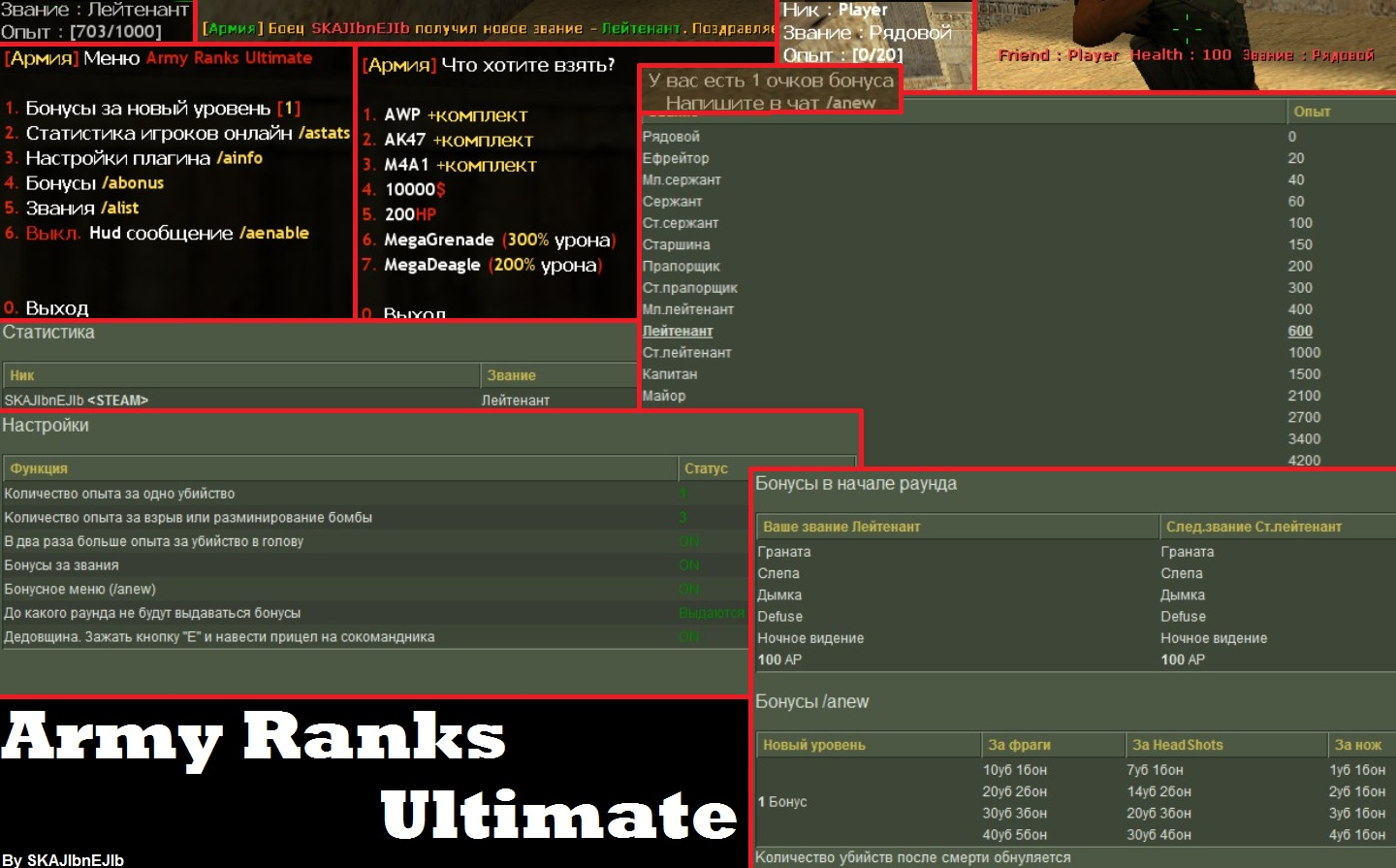 Плагин ARMY RANKS ULTIMATE